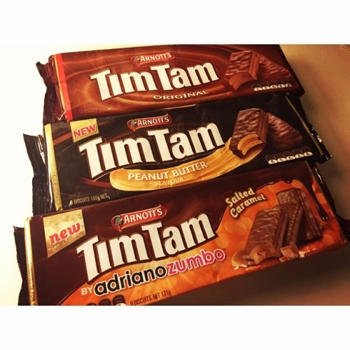 Can't come home from #Australia without some #timtam's!! #crackcookies