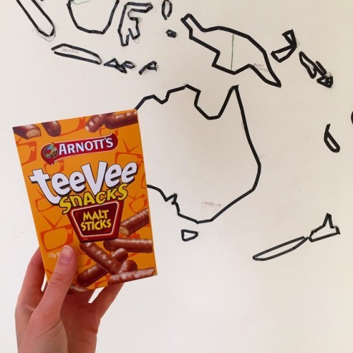 Oh hello there taste of childhood and impressive sticky-tape map of the world on my temporary bedroom wall.