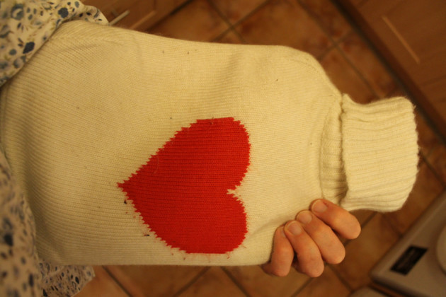 35th of 5th 365: Back home now, fixing Kate a hot water bottle