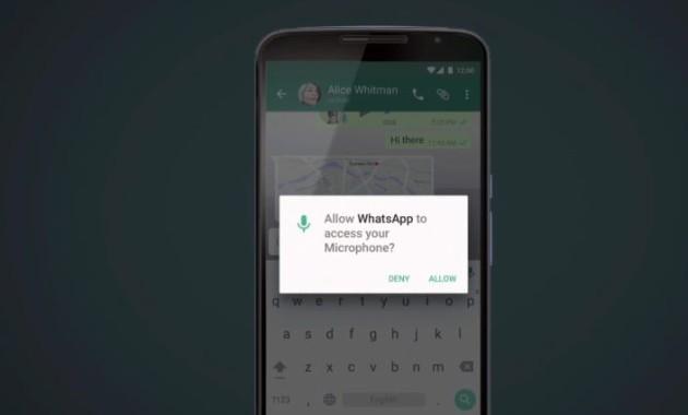 WhatsApp permission
