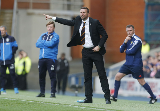Soccer - Scottish Premiership - Play-Off - Final - First Leg - Rangers v Motherwell - Obrox