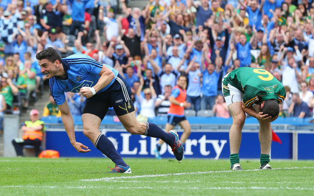 Bernard Brogan celebrates scoring
