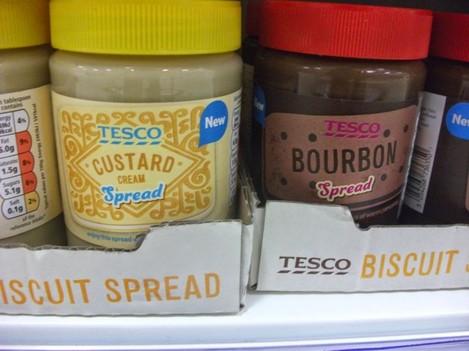 tesco+custard+cream+bourbon+cream+spread