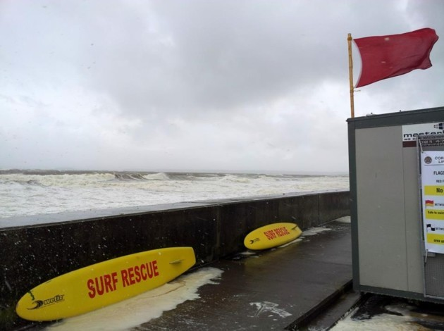 Red Flag on Front Strand Youghal