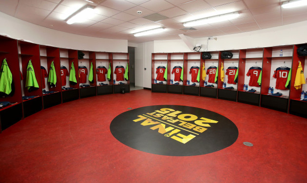 A view of the Munster changing room