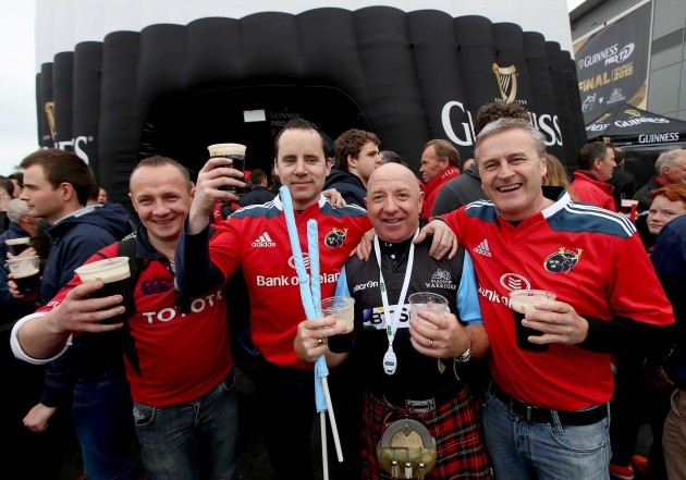 Munster and Glasgow fans before the game