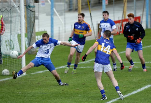 Dean Lonergan scores a goal