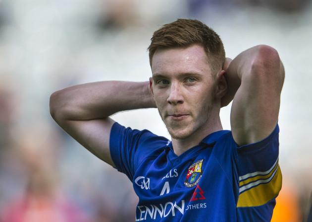 A dejected Cian Farrelly