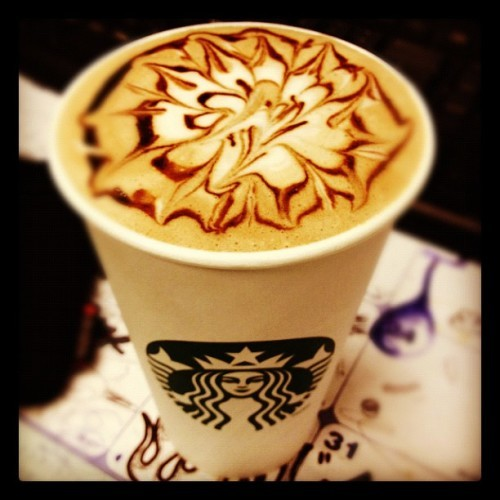 My beautiful marble hot chocolate. Good morning!