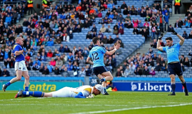 Diarmuid Connolly celebrates scoring the opening goal