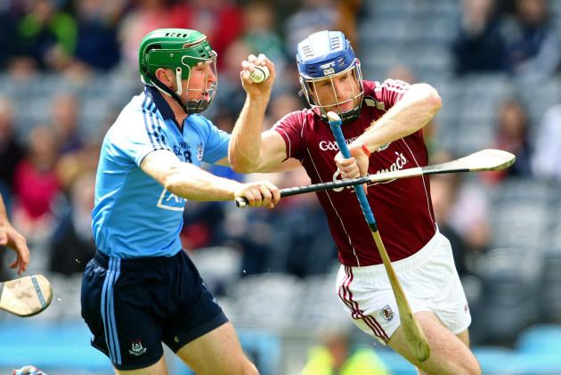 Johnny McCaffrey tackles Cyril Donnellan