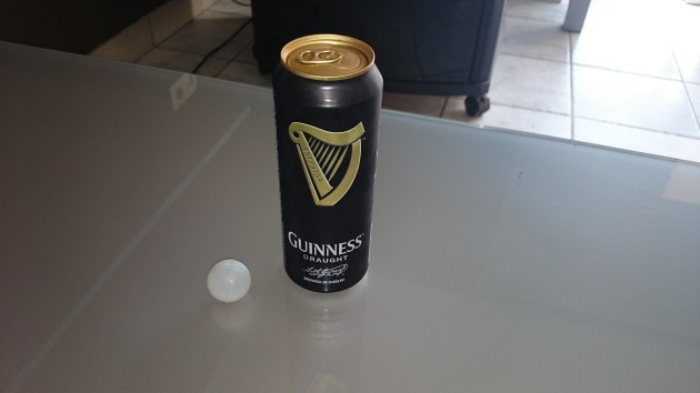 someone cut the widget out of a can of guinness because they thought