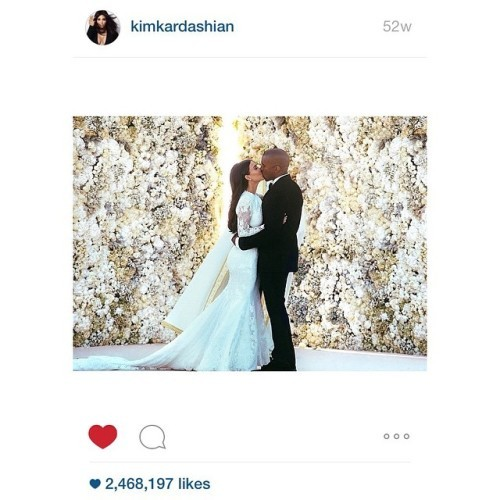 A year ago today Kim posted my photo. It's still the most liked photo ever on Instagram a year later. Mental
