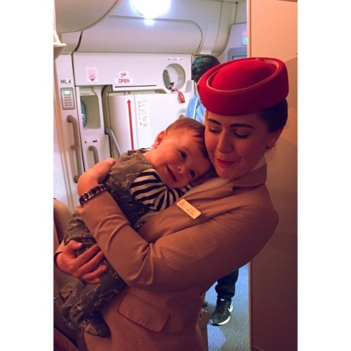 My favourite part of my job other than the travelling is the kids onboard! 7hours with this little guy on his first flight made my day!!
