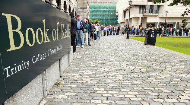 Queues To See Book of Kells