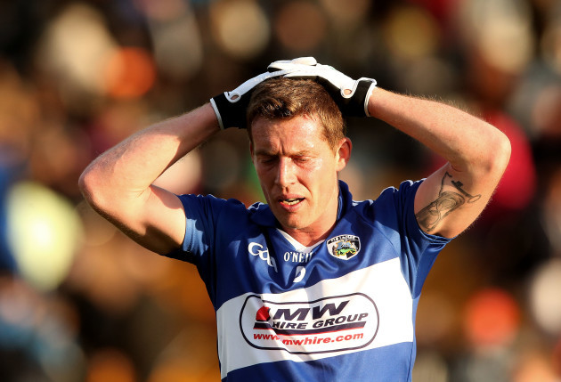 Darren Strong dejected at the final whistle