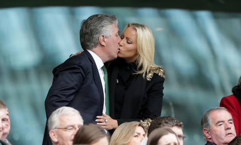 John Delaney with his partner Emma English