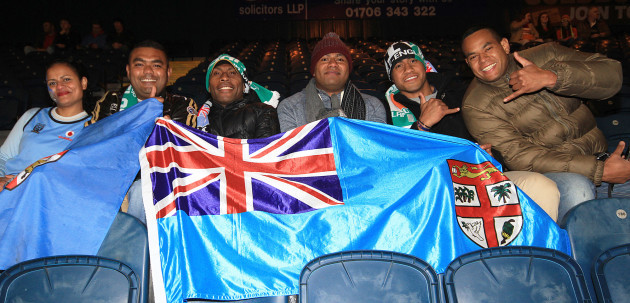 Fiji fans getting ready for the game 28/10/2013