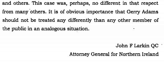 northern ireland judgement