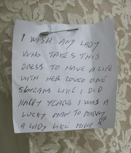 wedding note