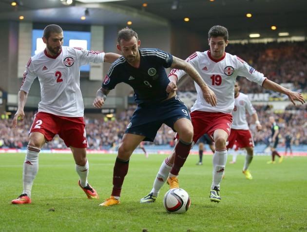 Soccer - UEFA Euro 2016 - Qualifying - Group D - Scotland v Georgia - Ibrox Stadium