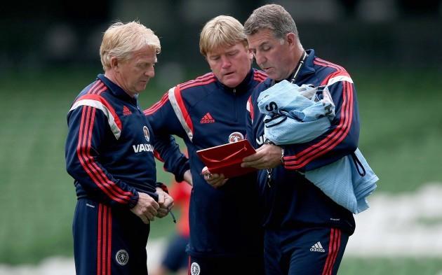 Gordon Strachan with Stuart McCall and Mark McGhee