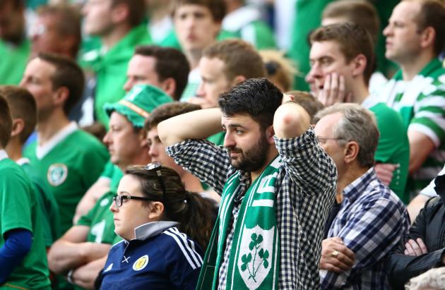 Ireland supporters look on