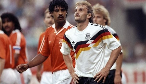 Voller and Rijkaard 24/6/1990