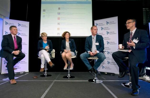 Rob Hartnett, Clare Balding, Sonia O'Sullivan, Ryle Nugent and Robin McGhee
