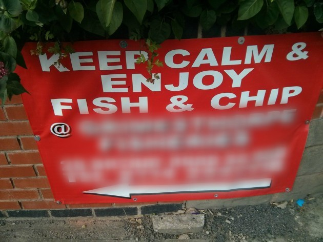 Pitiful attempt from a fish and chips shop down my road...