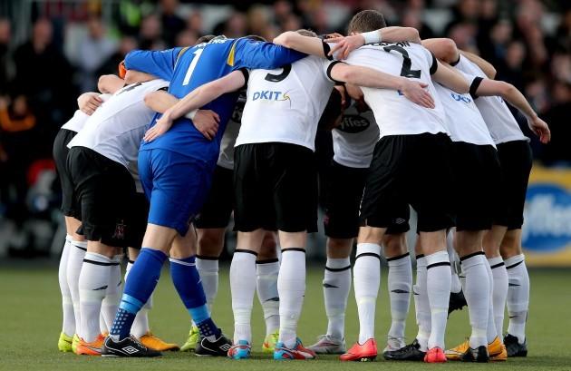 Dundalk team huddle
