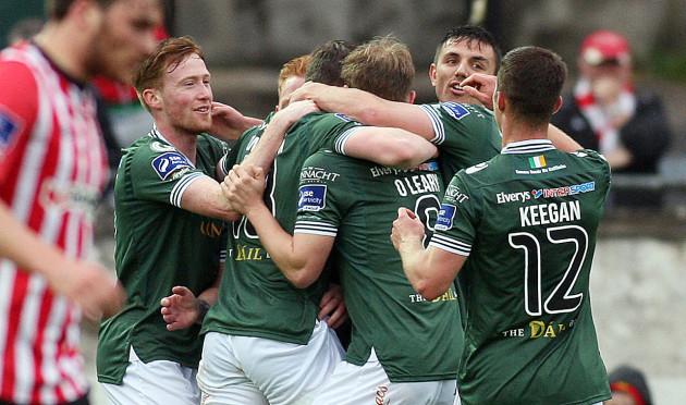 Padraic Cunningham celebrates scoring with teammates