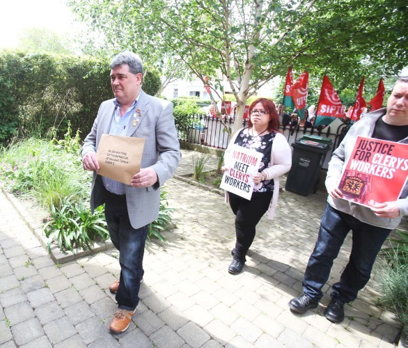 Clerys protest. Pictured Gerry Markey w