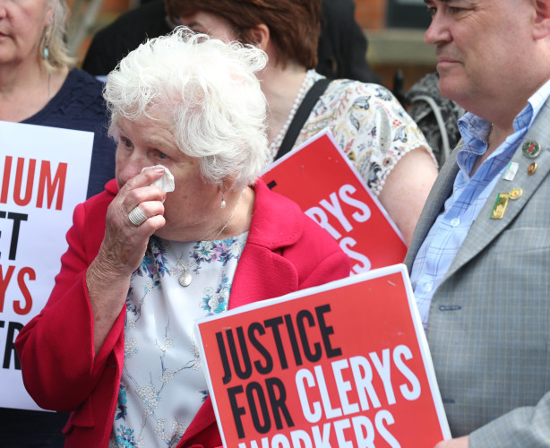 Clerys protest. Kathleen Griffin who`s