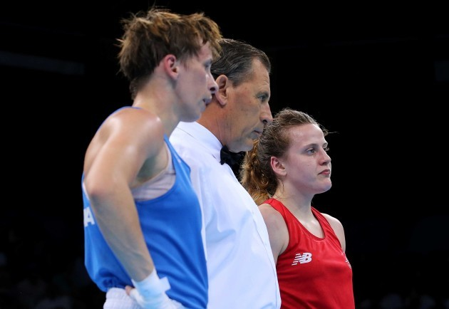 Michaela Walsh dejected after her bout