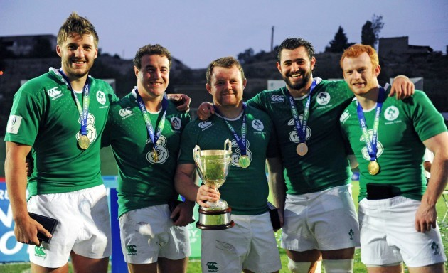 Stuart McCloskey, Rob Herring, Andrew Warwick, Frankie Taggart and Peter Nelson after the game