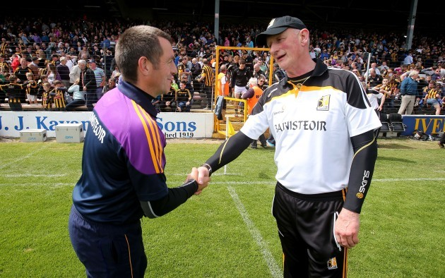 Liam Dunne and Brian Cody at the end of the game