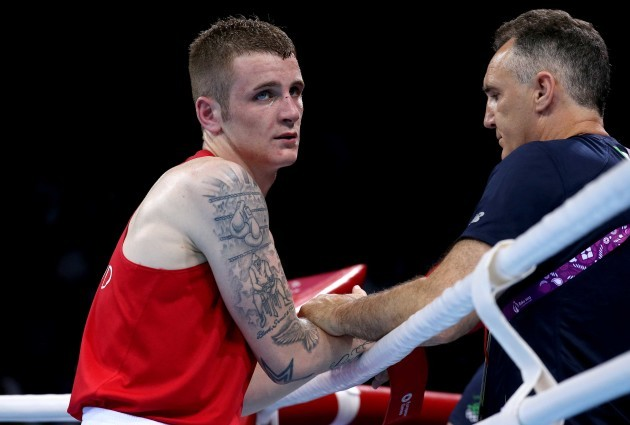 Dean Walsh awaits the result of his bout
