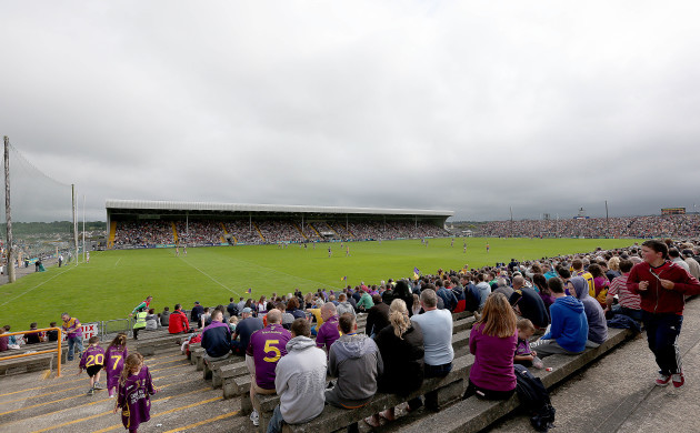 A view of a packed Wexford Park