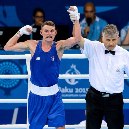 Sean McComb is declared the winner against Yasin Yilmaz