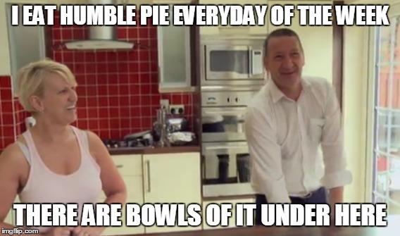 Tony McGregor Humble pie meme