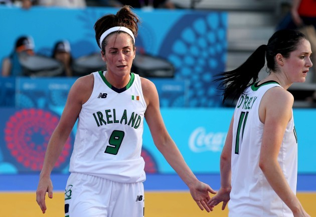 Grainne Dwyer and Orla O'Reilly dejected