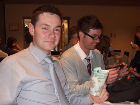 Shane wins the best man speech bet