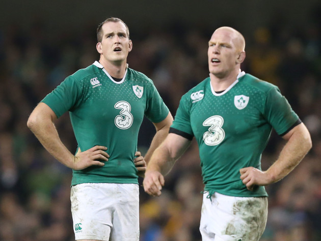 Devin Toner with Paul O'Connell