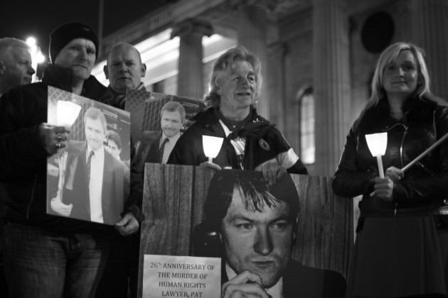 Vigil for murdered human rights lawyer Pat Finucane
