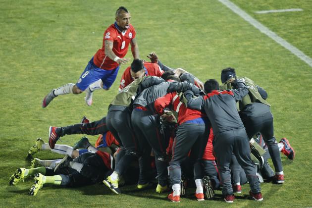 Chile Soccer Copa America Chile Uruguay