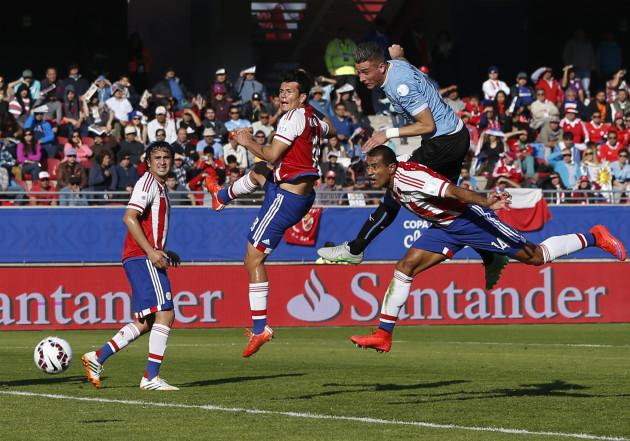 Chile Soccer Copa America Uruguay Paraguay
