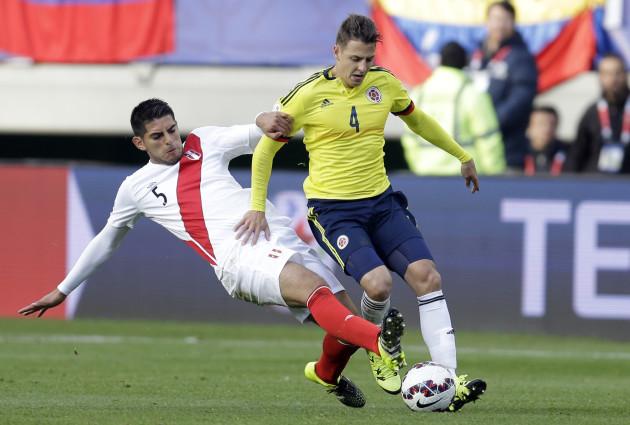 Chile Soccer Copa America Colombia Peru