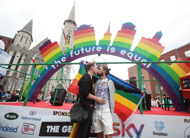 Gay Pride Parade. Pictured (LtoR) Dani