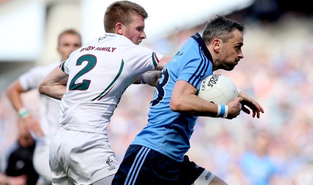 Kildare's Ciaran Fitzpatrick and Dublin's Alan Brogan
